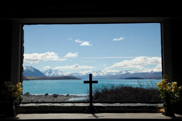 The view from the Church of the Good Shepherd, New Zealand