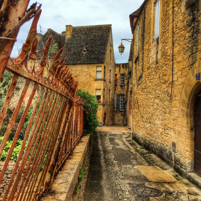 Empty street in Sarlat, Early Morning
